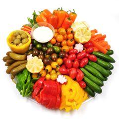 """מגש ירקות חתוכים - 40 ס""""מ"""
